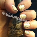 "OPI ""Alpine Snow"" layered with China Glaze ""Cleopatra"""
